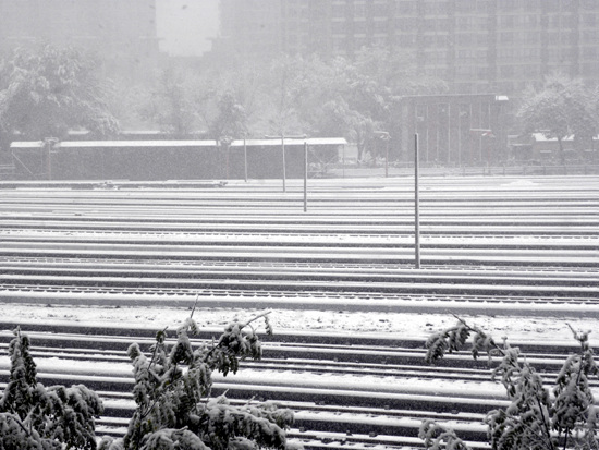 北京2009入冬第一场雪